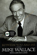 Between You and Me-Mike Wallace Memoir includes 82 minute DVD New H/C Free S&H!