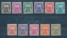 CT - TIMBRES TAXE N° 67 à 77  Neuf Luxe **