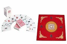 Western Mahjong Table Cover Mah jongg Mahjongg Mat Red /Mah Jong playing cards