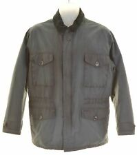 BARBOUR Mens Waxed Cotton Jacket Size 38 Medium Black Cotton  BH07