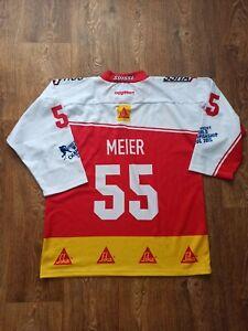 NATIONAL TEAM SWISS SUISSE SWITZERLAND HOCKEY SHIRT JERSEY MATCH MEIER 55