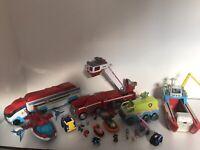 Paw Patrol toys Bundle Kids Childrens pups vehicles toy job lot set