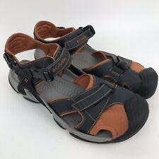 Columbia Mens Watu D2 Hybrid Sandal Grey Orange Closed Toe Size 12 Omni Grip