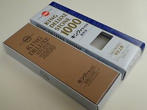 King 1000 GRT Deluxe Whetstone Sharpening Waterstone Sharpener/Made in Japan