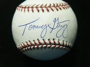 Tommy Gregg Atlanta Braves autographed MLB baseball