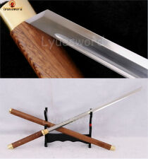 Handmade Samurai Ninja Sword Shirasaya Full Tang KIRIHA-ZUKURI Straight Blade