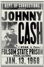 Johnny Cash Folsom State Prison Concert Poster 24x36 New Free Shipping