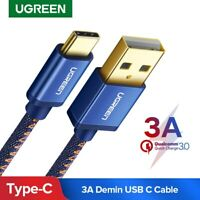 Ugreen USB Type C Cable 3A Quick Charge QC3.0 USB-C Fast Charging Data Cord
