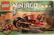 Lego Ninjago 9441 Kai's Blade Cycle w/ Booklet & Minifigures ** Complete **