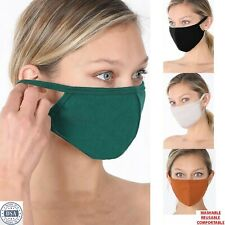 Soft Cotton Face Mask Double Layer Reusable Washable Breathable Mens Women