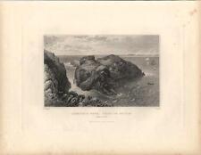 Stampa antica MARINA Costa di ANTRIM IRLANDA 1844 Old antique print Ireland