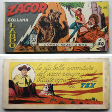 ZAGOR Striscia COLLANA LAMPO Iª Serie 36 ARALDO 1962
