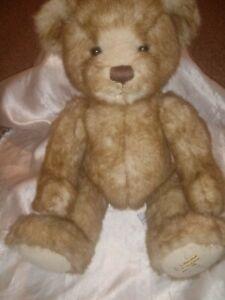 "2011 HARRODS TEDDY BEAR PLUSH STUFFED LIGHT BROWN 16"""