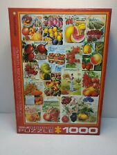 Smithsonian Eurographics Fruits Seed Catalogue 1000 piece puzzle Open