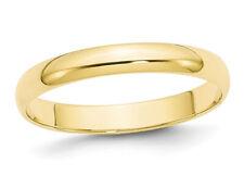 Senhoras Ouro Amarelo 10K 3mm Polido Casamento Banda