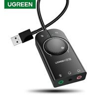 Ugreen External USB Sound Card Mic Audio Card USB to 3.5mm Earphone Headphone