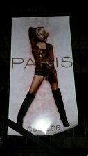 Paris Hilton - self titled-1-poster-8×17inches-nmint-veryrare-OOP!!!!