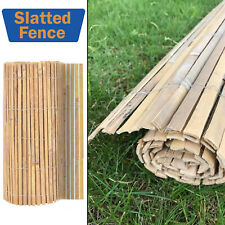 More details for ,4m bamboo slat natural garden screening fencing fence panel privacy screen roll