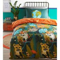 Endangered Animaux Housse Couette Simple Set Taie D'Oreiller Coucher Polycoton