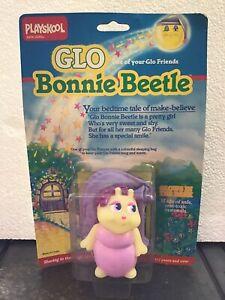 Vtg Hasbro Playskool Glo Friends BONNIE BEETLE Glow Bug Figure Sleeping Bag NIP