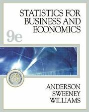 Statistics for Business and Economics (with CD-ROM and InfoTrac) (Stat-ExLibrary