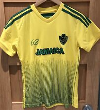 RARE Youth 14-16 Jamaica 62 Soccer Jersey LMS Sports #10 Shirt YELLOW GREEN