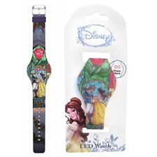 Beauty and the Beast Belle Stained Glass Final Frame LED Watch, NEW