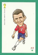 FOOTBALL - DUHZE POSTCARD OF CHINA - FOOTBALL WORLD CUP 2014  -  ALEXIS  SANCHEZ