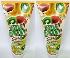 2 Fiesta Sun Kiwi Kapow Double Dark 20x Tanning Indoor Lotion 8 oz