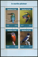 Chad 2019 CTO Kingfishers Kingfisher 4v M/S Martin-Pecheur Birds Stamps