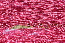 Silver Lined Dyed Ruby 11/0 Round  Czech Glass Seed Beads / hank