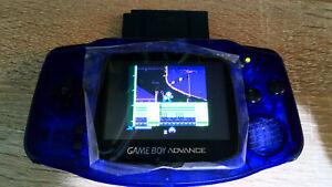 Nintendo Gameboy Advance (GBA) // Konsole (purple) - IPS V2 Mod // *neuwertig*
