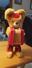 1950's BATTERY OPERATED BRUNO ACCORDION BEAR TOY  JAPAN