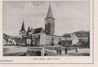 Kirchenburg in Meschen Moșna Mäschen Siebenbürgen Ardeal  BILDDOKUMENT von 1916