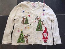 Ugly Christmas Sweater XL Womens  Santa Reindeer