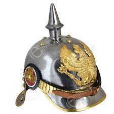 WW1 REPRO Silver Imperial German/Prussian Cuirassier PICKELHAUBE Helmet 57-59 cm