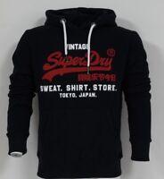 Superdry M20004NS/98T Mens Original Sweat Shirt Duo Hood Hoodies Eclipse Navy
