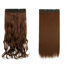 Invisible Real Exra Thick Curly Straight Hair Extensions Clip In Brown Blonde UK