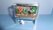Vintage Lundby Puppenhaus Aquarium mit Beleuchtung 1970er Jahre