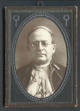 "Vintage Photo Pope Pius XI Studio Portrait Decorative Cameo Mat 5"" x 7"" ~1930"