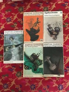 5 Vintage Agatha Christie paperbacks, no loose or missing pages