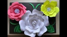Paper Flower Template #1 Kit - DIY - Make Unlimited Flowers - Make All Sizes