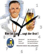 BIER IST GUT SAGT DER ARZT - Blechuhr Wanduhr Uhr Clock 79