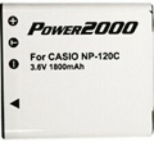 Battery for Casio NP-120 NP120 S200 ZS10 ZS10BK S200BK