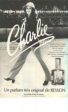 PUBLICITE 1976   REVLON parfum CHARLIE