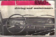 Renault 10 1100 1300 1967-71 Original Owners Handbook No. 7701425978