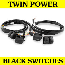 Black Hand Controls Switches Wiring Kit Harness for 1996-2006 Harley Models