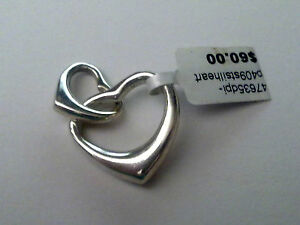 Sterling Silver Entwined Hearts Charm or pendant New RRP $60