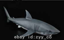 "23"" Art deco handmade sculpture Resin Great white shark simulation model Statue"