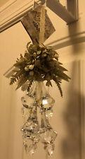 NWT GANZ Kissing Krystals Ornament Mistletoe Gilded Snowberry Chandelier